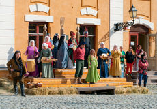 The Medieval Market in Turku Royalty Free Stock Photos