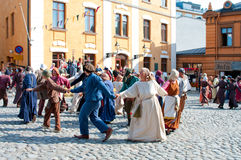 The Medieval Market in Turku Stock Photo