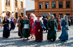 The Medieval Market in Turku Stock Image