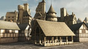 Medieval Marketplace Royalty Free Stock Photos