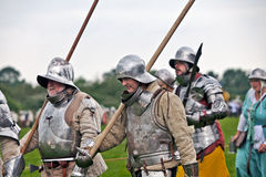 Medieval Men at arms Stock Photos