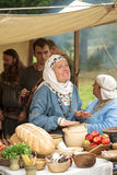 Medieval merchant Stock Image
