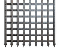 Medieval metal bars isolated Royalty Free Stock Photography