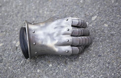Medieval metal glove Stock Photo