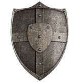 Medieval metal shield Stock Photography