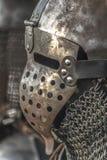 Medieval metal warrior helmet Royalty Free Stock Image
