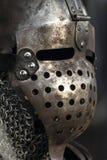 Medieval metal warrior helmet Royalty Free Stock Images