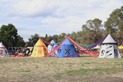 Medieval military camp Royalty Free Stock Image
