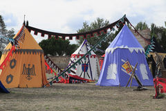 Medieval military camp Royalty Free Stock Images
