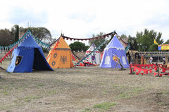 Medieval military camp Royalty Free Stock Photo