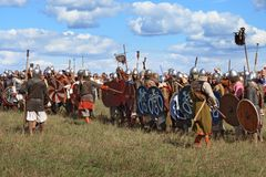 Medieval military festival Voinovo Pole (Warriors' Field) Royalty Free Stock Photography