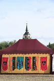 Medieval military tent Stock Images