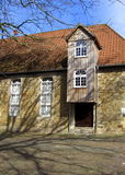 An old German  mill-house. Medieval mill-house building almost in the middle of the town. Niedersachsen , Quakenbrueck, Germany Stock Photos