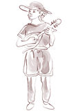 Medieval Minstrel Royalty Free Stock Images