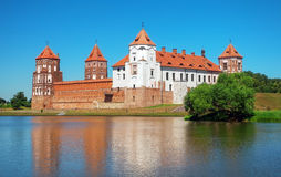 Medieval Mir castle Royalty Free Stock Images