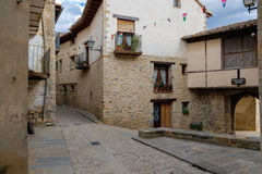 Medieval Mirambel town, Spain. Royalty Free Stock Photography