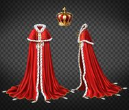 Free Medieval Monarch Royal Garment Realistic Vector Stock Images - 136353874