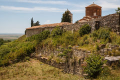 Medieval monastery built over the ruins of the ancient Apollonia Stock Photo