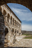 Medieval monastery built over the ruins of the ancient Apollonia Stock Photography