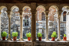 Medieval monastery built over the ruins of the ancient Apollonia. Town, Albania Royalty Free Stock Photo