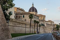 Medieval monastery in Loreto, Marche, Italy. View of medieval monastery in Loreto, Marche, Italy Stock Photography