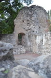 Medieval monastery ruins. The medieval monastery ruins in Margaret Island in Budapest Royalty Free Stock Photo