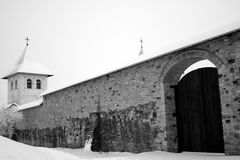 Medieval monastery. In winter day Royalty Free Stock Images