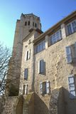 Monastry of La romieux, in France. The medieval monastry of La Romieux, France, southwest.  A beautiful gothic chruch Stock Image
