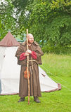 Medieval Monk at Brodie Castle. Stock Photography