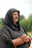 Medieval monk Stock Photo