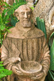Medieval monk statue Stock Image