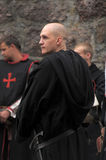Medieval monk Templar Stock Photography