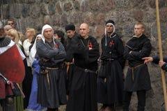 Medieval monk Templar Royalty Free Stock Image
