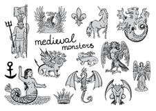 Medieval Monsters Royalty Free Stock Images
