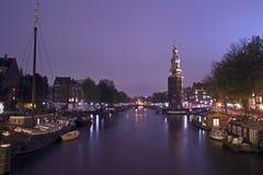 Medieval Montelbaanstower in Amsterdam Netherlands Stock Photo