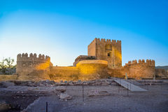 Medieval moorish fortress Alcazaba in Almeria Royalty Free Stock Image