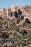Medieval moorish fortress Alcazaba in Almeria, Andalusia, Spain Stock Photography