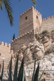 Medieval moorish fortress Alcazaba in Almeria Royalty Free Stock Photos