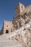 Medieval moorish fortress Alcazaba in Almeria Royalty Free Stock Images