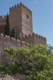 Medieval moorish fortress Alcazaba in Almeria. Eastern tip is the bastion of the outgoing, Andalusia, Spain Royalty Free Stock Photos