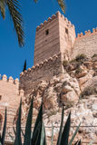 Medieval moorish fortress Alcazaba in Almeria, Eastern tip is the bastion of the outgoing, Spain. Medieval moorish fortress Alcazaba in Almeria, Eastern tip is Royalty Free Stock Image