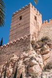 Medieval moorish fortress Alcazaba in Almeria, Eastern tip is the bastion of the outgoing, Spain. Medieval moorish fortress Alcazaba in Almeria, Eastern tip is Stock Images