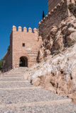 Medieval moorish fortress Alcazaba in Almeria, Eastern tip is the bastion of the outgoing, Spain. Medieval moorish fortress Alcazaba in Almeria, Eastern tip is Royalty Free Stock Photo