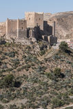 Medieval moorish fortress Alcazaba in Almeria, Eastern tip is th. E bastion of the outgoing, Andalusia, Spain Royalty Free Stock Image