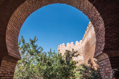 Medieval moorish fortress Alcazaba in Almeria, Spain Stock Photo