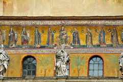Medieval mosaics and scupture Royalty Free Stock Photography