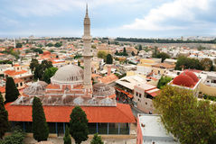Medieval mosques in Rhodes (Greece). Medieval mosques in old town of Rhodes (Greece stock photo