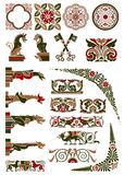 Medieval motif collection Royalty Free Stock Image
