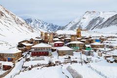 The medieval mountain village in Svaneti, Ushguli Stock Image