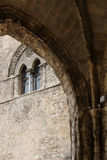 Medieval mullioned, from erice Royalty Free Stock Images